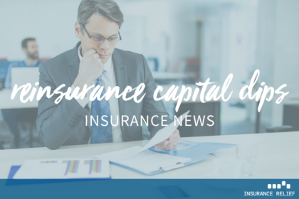 Reinsurance capital dips