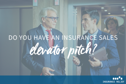 insurance sales elevator pitch